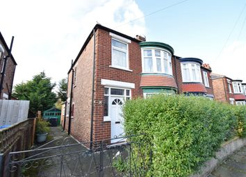 Thumbnail 3 bed semi-detached house for sale in Castleton Avenue, Linthorpe, Middlesbrough