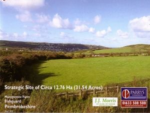 Thumbnail Land for sale in Development Site At Maesgwynne, Fishguard, Pembrokeshire