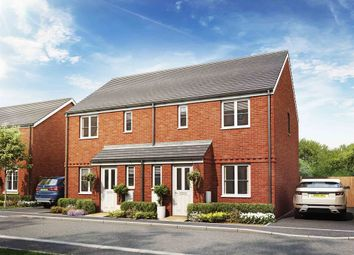 "Thumbnail 3 bed semi-detached house for sale in ""The Hanbury"" at Haverhill Road, Little Wratting, Haverhill"