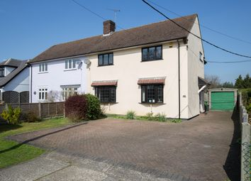 Thumbnail 3 bed semi-detached house for sale in Coxtie Green Road, Pilgrims Hatch, Brentwood