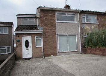 Thumbnail 3 bed semi-detached house for sale in Cae Talcen, Pencoed, Bridgend.