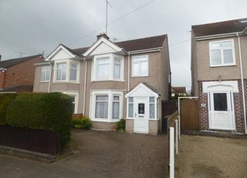 Thumbnail 3 bed semi-detached house for sale in Moat Avenue, Coventry, West Midlands