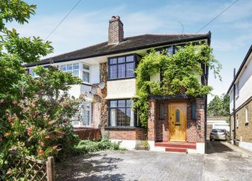 Thumbnail 3 bed semi-detached house for sale in Pembroke Avenue, Berrylands, Surbiton