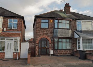 Thumbnail 3 bedroom semi-detached house for sale in Kedleston Road, Evington, Leicester