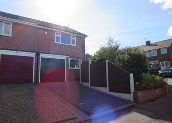 Thumbnail 3 bed semi-detached house to rent in Kirby Close, Newthorpe, Nottingham