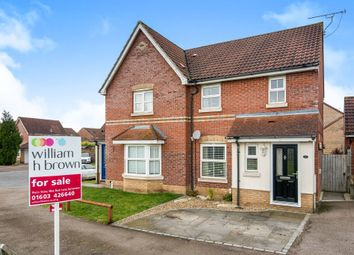 Thumbnail 3 bedroom semi-detached house for sale in Dalbier Close, Dussindale, Norwich