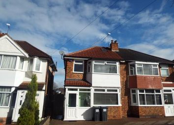 Thumbnail 3 bed semi-detached house for sale in Cranes Park Road, Birmingham, West Midlands