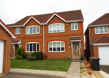 Thumbnail 3 bed semi-detached house for sale in Hazelden Close, Wollaston, Northamptonshire