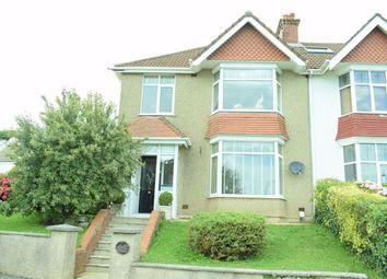 Thumbnail 3 bed semi-detached house for sale in Lon Bedwen, Sketty, Swansea
