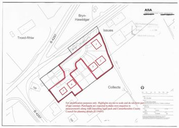 Thumbnail Land for sale in Clos Y Gat, Carmarthenshire