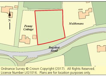 Thumbnail Land for sale in Land North Of Bagshot Road, Chobham, Woking, Surrey