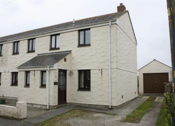 Thumbnail 3 bed semi-detached house to rent in Halt Road, St. Newlyn East, Nr Newquay