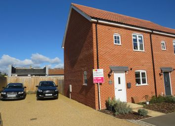 Thumbnail 2 bedroom end terrace house for sale in Walne Close, Framlingham, Woodbridge