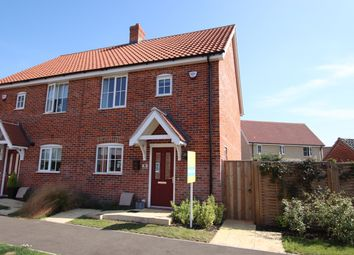 Thumbnail 3 bed semi-detached house to rent in Kemp Road, North Walsham