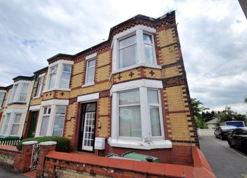 Thumbnail 3 bed end terrace house for sale in Kent Road, Wallasey