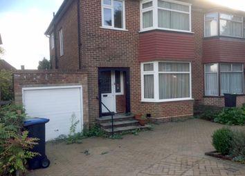 Thumbnail 3 bed semi-detached house for sale in Brayton Gardens, Oakwood, Enfield
