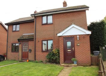 Thumbnail 2 bedroom semi-detached house to rent in The Common, Freethorpe, Norwich
