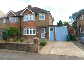 Thumbnail 3 bed semi-detached house to rent in Heath Close, Stanwell, Middlesex