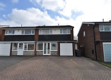 Thumbnail 3 bed semi-detached house to rent in Arosa Drive, Harborne, Birmingham