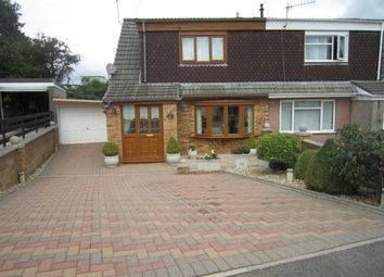 Thumbnail 3 bed semi-detached bungalow for sale in Marwyn Gardens, Bargoed