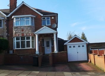 Thumbnail 3 bed semi-detached house for sale in Highway Road, Leicester