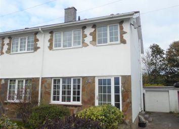 Thumbnail 3 bed semi-detached house for sale in Taliesin Close, Pencoed, Bridgend, Bridgend County.