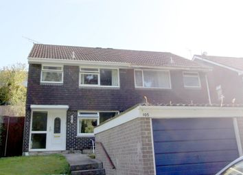 Thumbnail 3 bed semi-detached house to rent in Holmwood Avenue, Plymstock, Plymouth