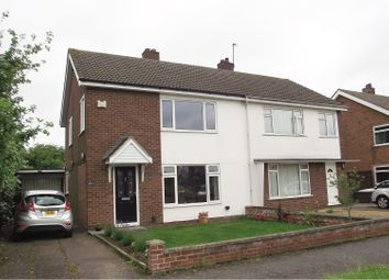 Thumbnail 3 bed semi-detached house for sale in Conway Crescent, Bedford