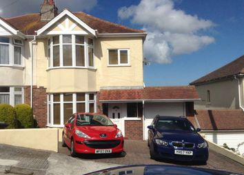 Thumbnail 3 bed semi-detached house to rent in Seaview Crescent, Preston, Paignton