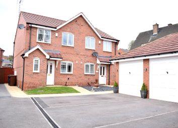 Thumbnail 3 bed semi-detached house for sale in Redbridge Close, Ilkeston, Derbyshire