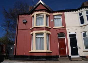 Thumbnail 3 bed end terrace house to rent in Zetland Road, Mossley Hill, Liverpool