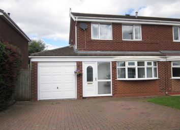 Thumbnail 3 bed semi-detached house to rent in Linburn Drive, Bishop Auckland
