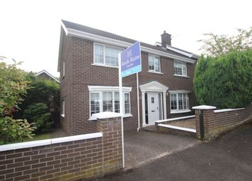 Thumbnail 4 bed semi-detached house for sale in Hillcrest Park, Newtownabbey