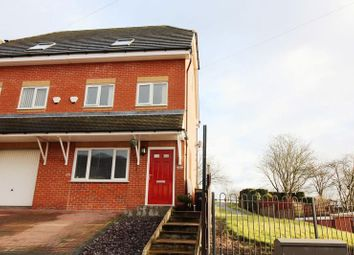 Thumbnail 3 bed mews house for sale in Wignall Road, Tunstall, Stoke-On-Trent