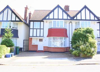 Thumbnail 4 bed semi-detached house to rent in Rowsley Avenue, Hendon, London