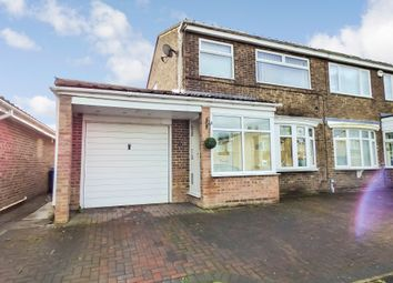 Thumbnail 3 bed semi-detached house for sale in Chevington Close, Pegswood, Morpeth