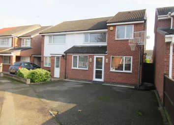Thumbnail 3 bed semi-detached house for sale in Uttoxeter Close, Rushey Mead