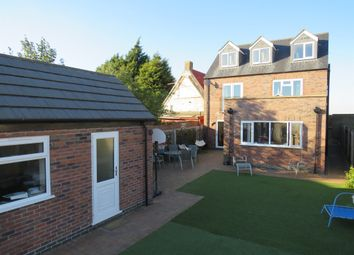 Thumbnail 4 bed detached house for sale in Eastrea Road, Eastrea, Peterborough