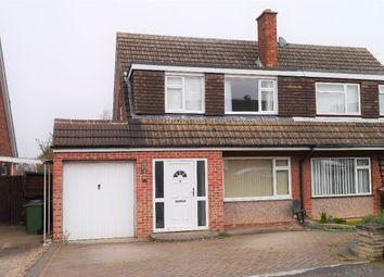 Thumbnail 3 bed semi-detached house for sale in Sapcote Drive, Melton Mowbray