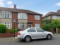 Thumbnail 2 bed flat for sale in Birchwood Avenue, High Heaton, Newcastle Upon Tyne