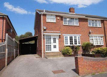 Thumbnail 3 bed semi-detached house for sale in Linden Lea, Portchester, Fareham