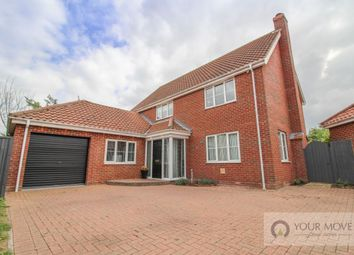 Thumbnail 4 bed detached house for sale in Suttons Road, Worlingham, Beccles