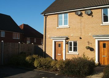 Thumbnail 2 bed end terrace house to rent in Bullfinch Close, Stowmarket