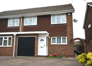 Thumbnail 3 bed semi-detached house for sale in Brompton Farm Road, Rochester