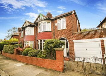 Thumbnail 3 bed semi-detached house for sale in Rosebery Crescent, Jesmond, Tyne And Wear