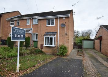 Thumbnail 2 bed end terrace house to rent in Buckfast Close, Swanwick, Alfreton, Derbyshire