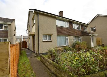 Thumbnail 3 bed semi-detached house to rent in Codiford Crescent, Camborne, Cornwall