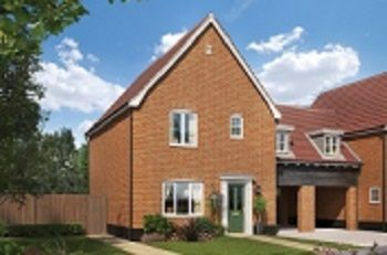 Thumbnail 3 bed link-detached house for sale in Ashe Road, Tunstall, Woodbridge