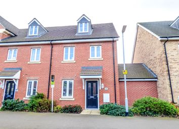 Thumbnail 4 bedroom terraced house for sale in Beauvais Avenue, Shortstown, Bedford