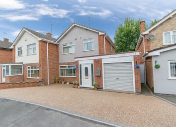 Thumbnail 3 bed semi-detached house for sale in Plowman Close, Leicester